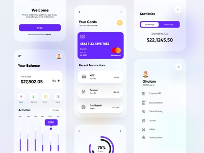 Banking and Finance App UX-UI Design mobile app ui design minimal mobile ux ui design mobile apps mobile ui mobileapp mobileappdesign app interface ui uiux ux