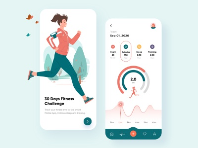 Fitness Mobile App UX-UI Design product design branding design animation typography cardio gym app fitness app mobile design mobile app design cards ui design vector mobile branding web design top ux ui designer minimal creative illustration mobile app