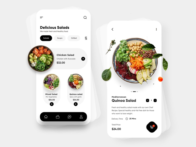Food Mobile App Design mobile app ui design minimal mobile ux ui design mobile apps mobile ui mobileapp mobileappdesign app interface ui uiux ux