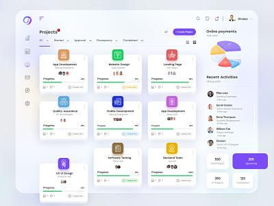 Task Management UX-UI Design financial ux uiux interface finance dashboad app admin design