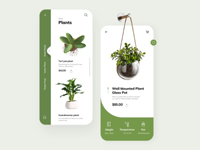 Plants App UX UI Design mobile app ui design minimal mobile ux ui design mobile apps mobile ui mobileapp mobileappdesign app interface ui uiux ux
