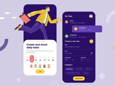 Task Management Mobile App mobile app ui design minimal mobile ux ui design mobile apps mobile ui mobileapp mobileappdesign app interface ui uiux ux