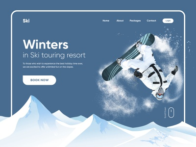 Ski Resort Landing Page landing page web interface webdesign homepage illustration uidesign ui website design