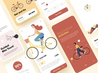 Cycling Mobile App UI Design ios mobile mobile ui kit mobile app development mobile application mobile app experience cards ios mobile app mobile app ui mobile ui design mobile design mobile mobile app design agency mobile ui mobile apps mobile app design mobile uiux design branding mobile app