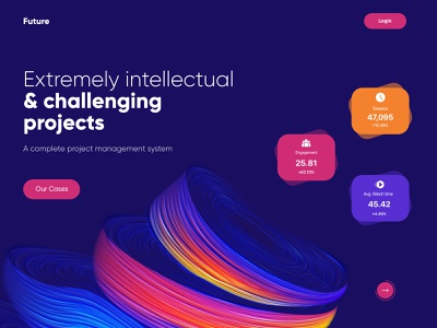 Landing Page UX UI Design landing page web interface webdesign homepage illustration uidesign ui website design
