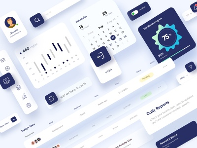Light Theme UI Elements Design landing page interface web webdesign homepage illustration uidesign ui website design