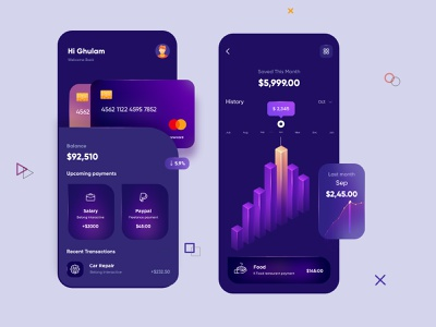 Finance Mobile App UX/UI Design mobile app ui design minimal mobile ux ui design mobile apps mobile ui mobileapp mobileappdesign app interface ui uiux ux