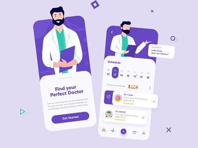 Doctor Mobile App mobile mobile app mobileapp mobile app design app mobileappdesign design interface minimal mobile ui uxui ui ux