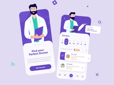 Doctor Mobile App mobile app ui design minimal mobile ux ui design mobile apps mobile ui mobileapp mobileappdesign app interface ui  ux uiux uxui