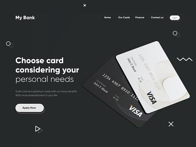 Credit Card Landing Page landing page web interface webdesign homepage illustration uidesign ui website design
