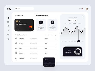 Finance Dashboard design admin app dashboad finance financial interface uiux ux