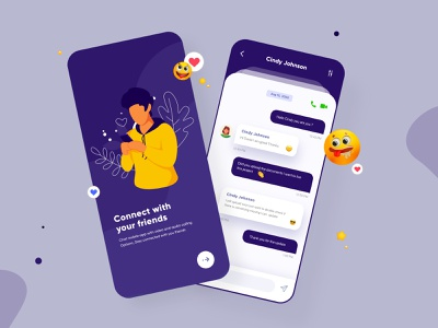 Chat Mobile App UI Design mobile app ui design minimal mobile ux ui design mobile apps mobile ui mobileapp mobileappdesign app interface uiux ux ui