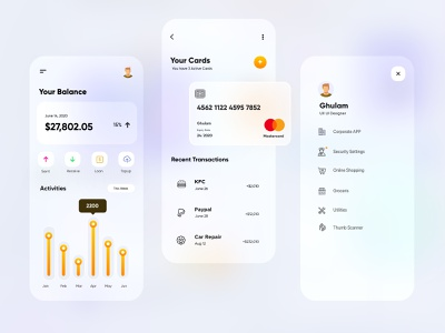 Finance Mobile App-UX/UI Design mobile app ui design minimal mobile ux ui design mobile apps mobile ui mobileapp mobileappdesign app interface uiux ux ui