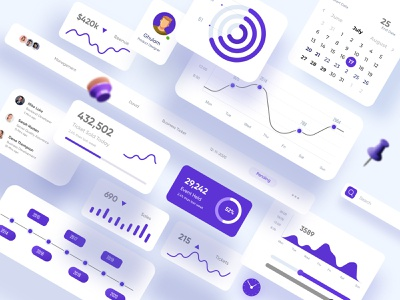 Finance UI Elements Design web ui websitedesign website design website colors design minimal uxui ui ux web