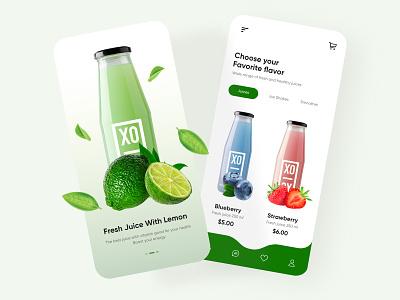 Fresh Juice Mobile App mobile app ui design minimal mobile uiux design mobileapps mobile ui mobileapp mobileappdesign app interface uiux ui ux
