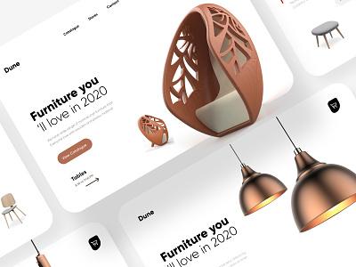Furniture Banner Design landing page interface web webdesign homepage illustration uidesign ui website design