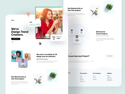 Digital Agency Landing page Design landing page interface web webdesign homepage illustration uidesign ui website design