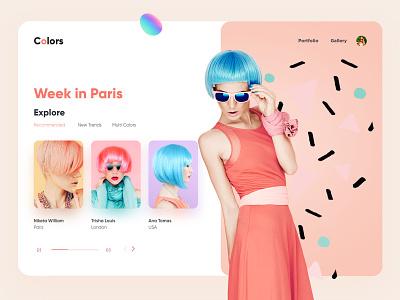 Fashion Landing page landing page interface web webdesign homepage illustration uidesign ui website design