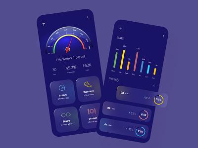 Fitness App Design ui design minimal mobile ux ui design mobile ui mobile app mobileappdesign app interface ui uiux