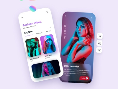 Fashion Mobile App Design interface ux uiux ui app mobile ui mobile app minimal mobileapp mobile mobile apps ux ui design ui design