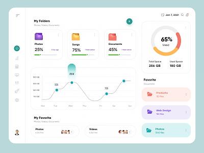File Manager Dashboard Design ux uiux interface financial finance dashboad app admin design