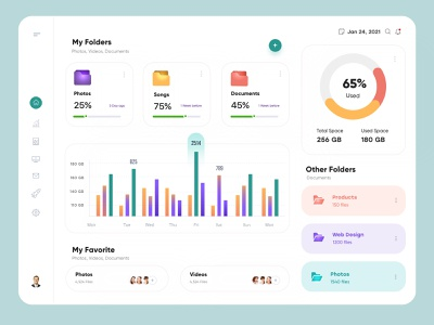 File Manager Dashboard Design ux uiux interface financial finance dashboad app admin design