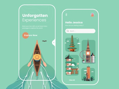 Tours Mobile App Design ui design mobile apps ux ui design mobileapp mobileappdesign minimal mobile app mobile ui app ui uiux ux interface mobile