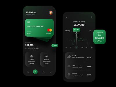 Finance Mobile App Design interface ux uiux ui app mobile mobile ui mobile app minimal mobileappdesign mobileapp mobile apps ux ui design ui design