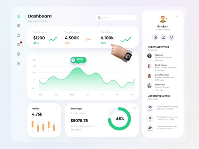 Finance Dashboard Design admin dashboard dashboard design theme light dashboard ui banking bank stats financial finance glassmorphism cards typography interface ui uxui dashboard app admin design