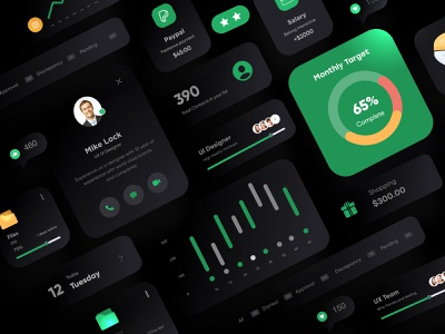 Dark Theme UI Elements project websitedesign website design landing page design minimal clean website digital design landing webdesign landingpage web typography interface uiux ux ui