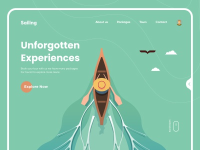 Tours Landing page design websites project website design websitedesign landing page design typography minimal clean website digital design illustration uiux ui interface landing web design landingpage ux web