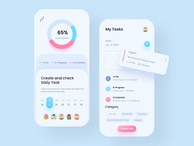 Task Management Mobile App interface ux uiux ui app mobile mobile ui mobile app minimal mobileappdesign mobileapp mobile apps ux ui design ui design