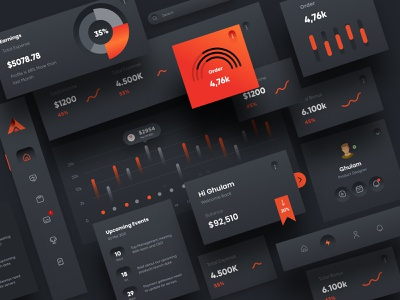 UI Element Dark Theme Desing ux ui web landingpage landing web design webdesign uiux illustration design website agency digital clean minimal typography website design landing page design websitedesign project
