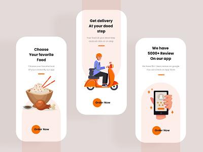 Food Delivery Onboarding UI Design ui design uidesign ux ui design mobile apps mobileapps mobileapp mobileappdesign minimal mobile app mobile ui mobile app ui uiux ux interface