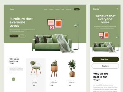 Furniture Landing Page Design project websitedesign landing page design website design typography minimal clean digital agency website design illustration uiux webdesign web design landing landingpage web ui ux