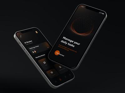 Task Management Mobile App Design ui ui design ux ui design mobile apps mobileapp minimal mobile app mobile ui mobile ux uiux interface mobileappdesign app