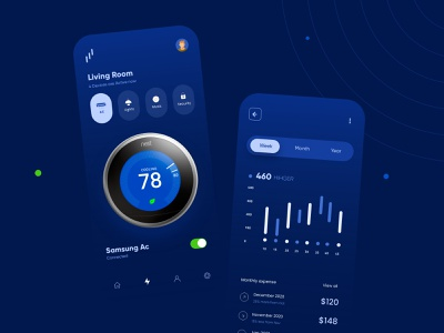 Smart Home Mobile App Design ui design ux ui design mobile apps mobileapp mobileappdesign minimal mobile app mobile ui mobile app ui uiux ux interface