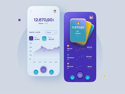 Crypto Mobile App Design mobileui ui design ux ui design mobileapp mobile apps mobile app design minimal mobile ui mobile app mobile app ux ui uiux interface