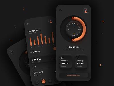 Alarm Mobile App Design uiux mobile app design mobile apps mobileapp interface ui ux app mobile mobileui minimal mobile app ux ui design ui design mobile ui