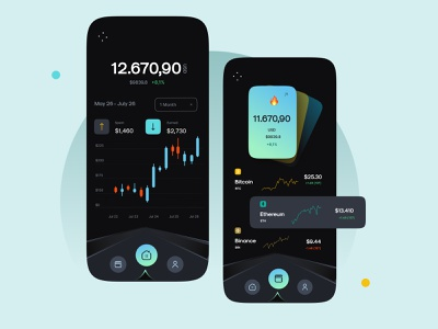 Crypto Currency App Design V2.0 app mobile apps mobile app design ios android app design application design android app design ios app ui design app dark theme crypto mobile design interface design uiux ux ui mobile app mobile