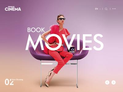 Movies Website Header UI Design