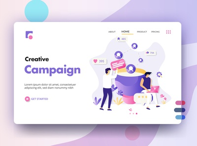 Creative Campaign UI Design