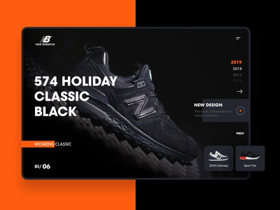 New Balance Shoes UI Design