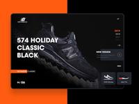 New Balance Shoes UI Design