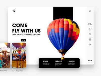Hot Air Balloon Ride UI Design