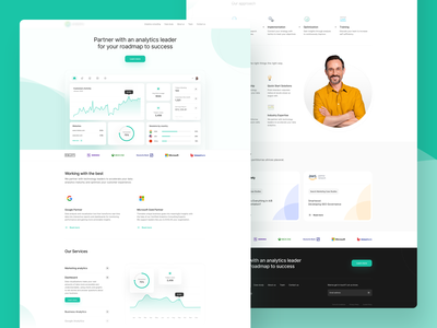 Analytics WWW desktop green colors white dashboard blur digital minimal ui app design illustration icons clean landingpage landing www chart analytics