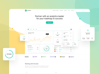 Analytics Platofrom - WWW minimalist logos google dashboard analytics dashboard mobile gradient digital minimal ui app design clean yellow green desktop analytics app charts landingpage analytics