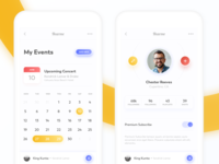 Profile and Calendar