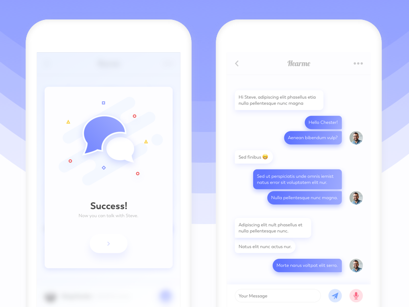 Chat Screen - Pop-up