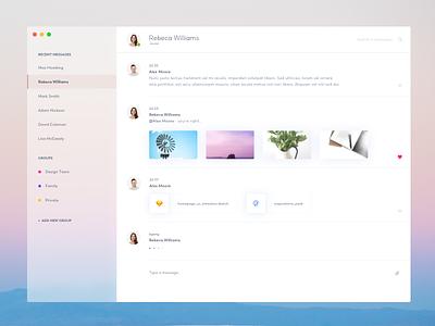 Chat  - new desktop application ui minimal gradient design clean mac app chat colors blur fluent